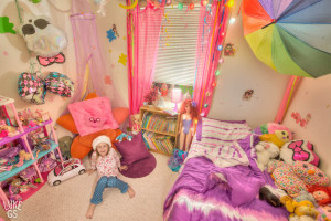 Environmental portrait of Farren in her candy room