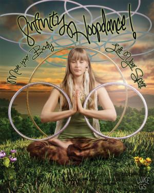 Hooper Nina of Infinity Hoopdance sits meditatively in this digital illustration by Luke GS