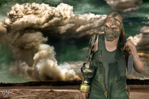 Jared as a post apocalyptic opportunist in a digital illustration by Luke GS