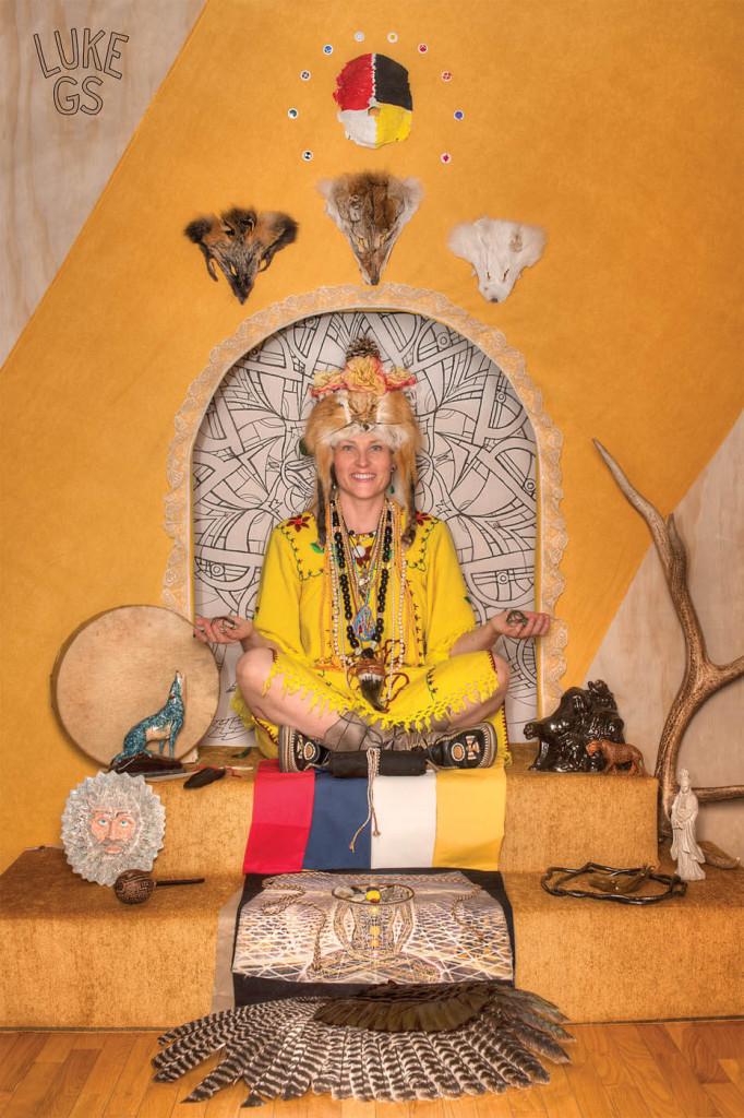 Eugena of Astral Harvest on her altar by Luke GS