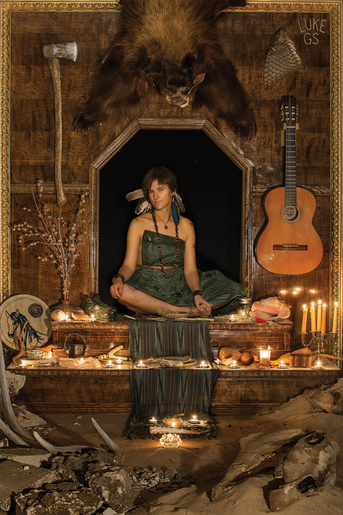 Jenika sits on an altar to her perseverance by Luke GS