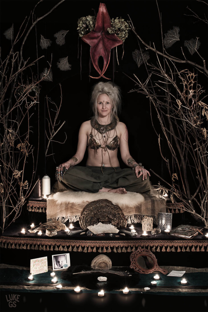 Julia sits on her forest altar by Luke GS