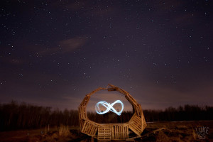An Ouroboros made from pallets at Fires of Beltane