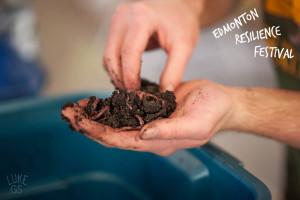 Worm compost Bin at Edmonton Resilience Festival