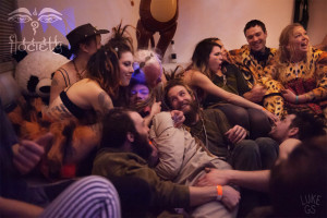 cuddle puddle at Flociety's Rager in the Rainforest