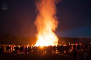 effigy burning during Freezerburn regional burn event in alberta