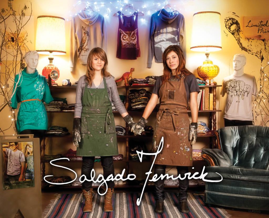 Linda and Shauna of Salgado Fenwick pose in their small shop