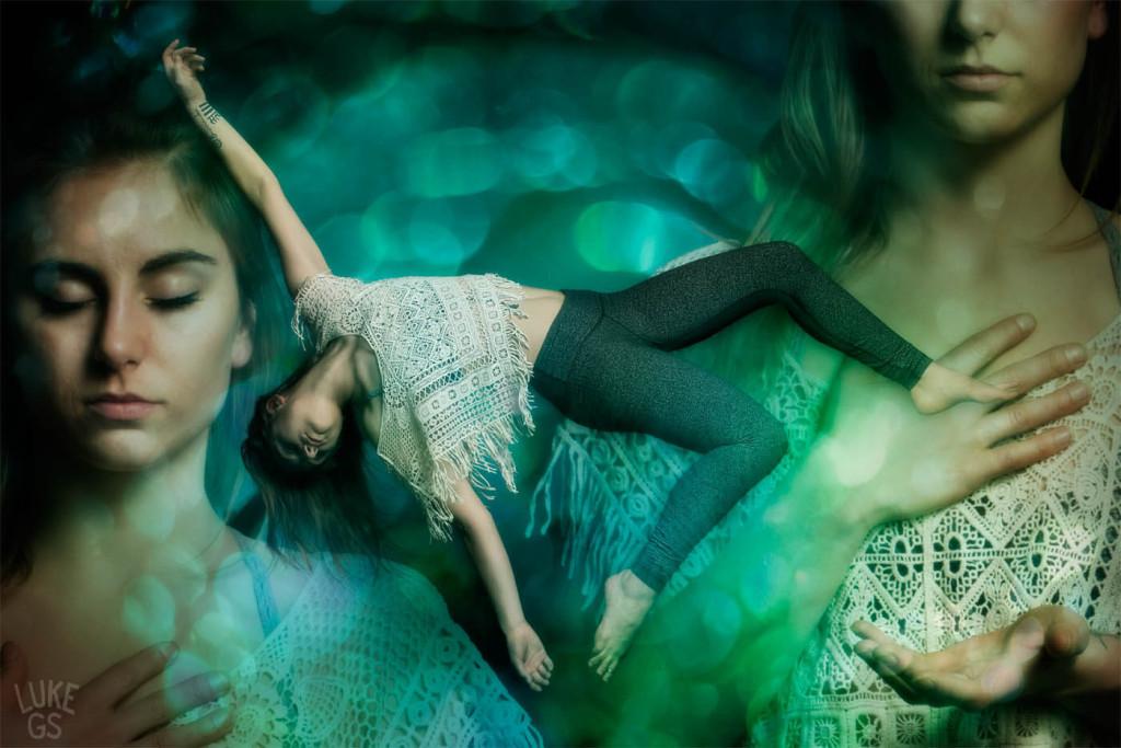 Sarah falls weightlessly symbolizing her surrender by Luke GS
