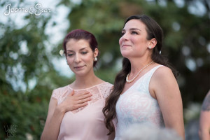 Sisters cry as they watch Joanna and Sean's first wedding dance
