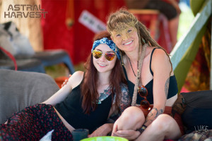 Elise and Mika lounge at Astral Harvest Festival