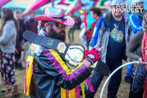 Steve dressed as Macho Man Randy Savage at Astral Harvest Festival