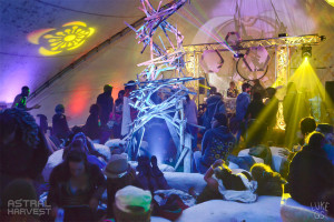 Inside Angelica's Basket stage at Astral Harvest Festival
