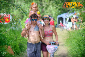 young family at Astral Harvest Festival
