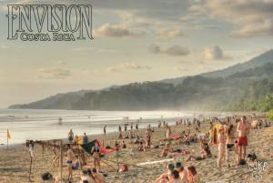 ocean and beach at envision festival costa rica