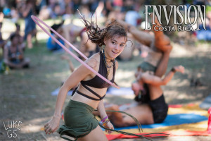 Jen Isabel Friend hoops at envision festival in costa rica